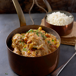 Chicken Drumsticks and Peanut Stew served with Rice